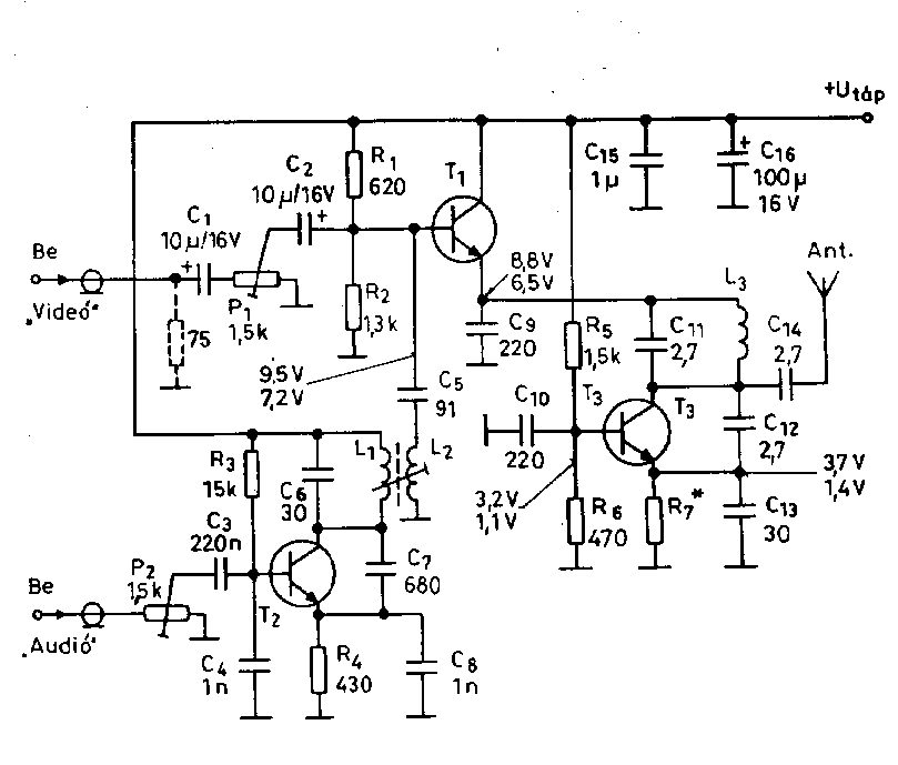Amplifier circuits video 500mhz video signal transmitter schematic only designed by peter jakab ccuart Images